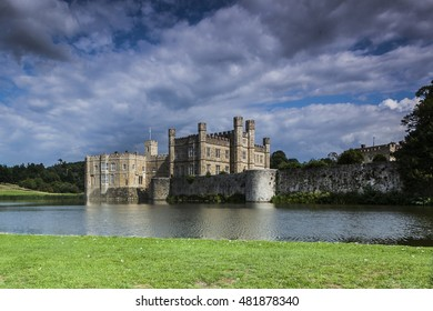 Leeds castle, situated in Kent, England
