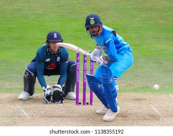 LEEDS, ENGLAND - JULY 17: Jos Buttler and Hardik Pandya during the 3rd Royal London One day International match between England and India at Headingley Cricket Ground on July 17, 2018 in  England.
