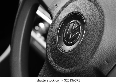 LEEDS - SEPTEMBER 24: Volkswagen admit to fitting diesel engined vehicles with devices which could effect the outcome of emissions tests, September 24, 2015 Leeds, England.