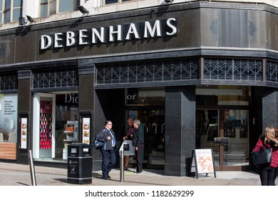 LEEDS, UK - 11 September 2018  Debenhams shop in Leeds City Centre