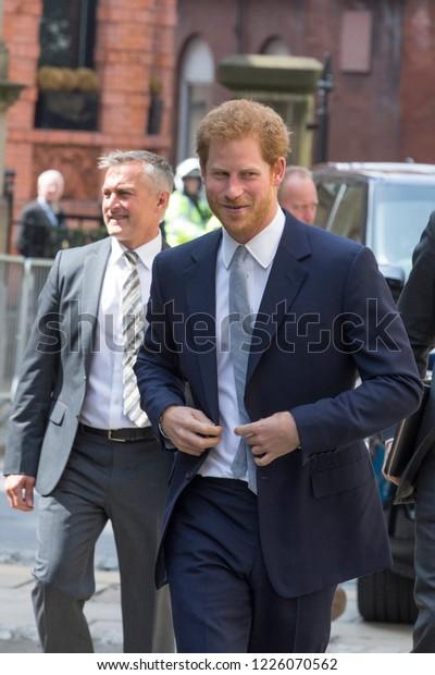 LEEDS, UK - 6 JULY 2017.  Prince Harry arriving in Leeds