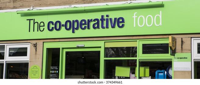 LEEDS, UK - 9 FEBRUARY 2016.  Co-operative food shop in Leeds, England UK.