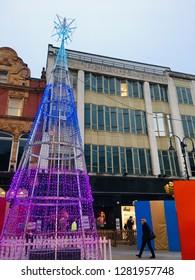 Leeds, Yorkshire, United Kingdom. December 11th 2018. Debenhams in Leeds City Centre, Leeds, UK. Editorial image