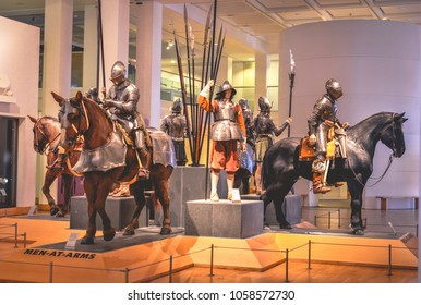 Leeds, Yorkshire/The United Kingdom - 16 April 2016: An exhibition at the Royal Armouries Museum in Leeds