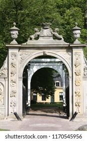 Leek. May-11-2011. Entrance to the Estate Nienoord in Leek. The Netherlands