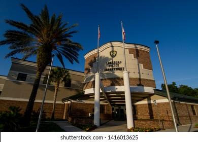 LEESBURG - FLORIDA- USA - 05-22-2019 - CITY OF LEESBURG FLORIDA POLICE STATION