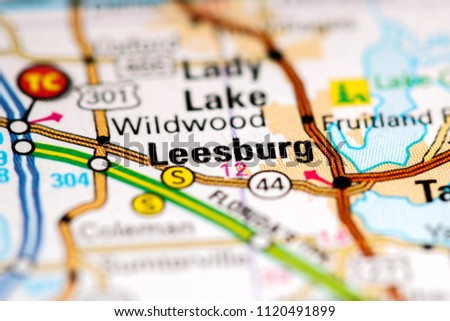 Leesburg Florida Map.Leesburg Florida Usa On Map Stock Photo Edit Now 1120491899