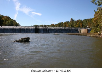 Leesburg, VA - October 13, 2006: the former Fairfax City Water Supply dam on Goose Creek, now managed by Loudoun County Service Authority (Loudoun Water).