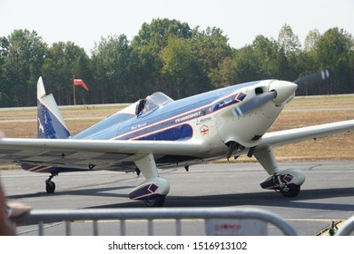 Leesburg, VA / USA - September 28, 2019: A stunt plane is parked at the Leesburg Air Show.