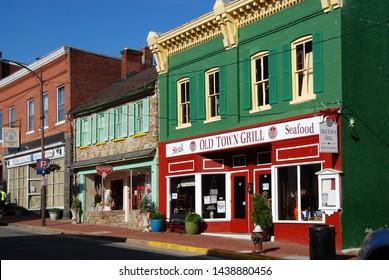 Leesburg, Virginia, 05/12/2012 historic district of Leesburg,