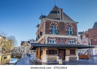 LEEUWARDEN, NETHERLANDS - FEBRUARY 16, 2015: Old weigh house in the historical center of Leeuwarden, Netherlands