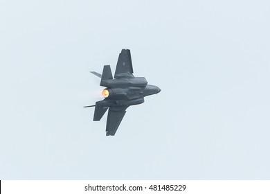 LEEUWARDEN NETHERLANDS June 11 2016:   Lockheed Martin F-35A Lightning II at Luchtmachtdagen