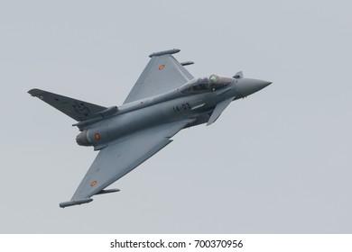 LEEUWARDEN NETHERLANDS June 11 2016: Spanish Air Force Eurofighter EF 2000 Typhoon