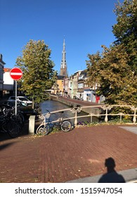 Leeuwarden, Netherlands - September 21, 2019: The cozy streets of Leeuwarden, the capital of the province of Friesland, Netherlands