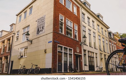 "Leeuwarden,Netherlands - October 19, 2019 :  Architecture on ""Grote Kerkstraat"" in Leeuwarden the capital of the province of Friesland, Netherlands"