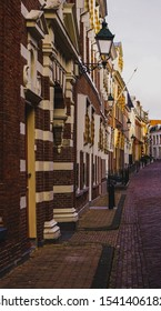 "Leeuwarden,Netherlands - October 19, 2019 :  Street view down on ""Grote Kerkstraat"" in Leeuwarden the capital of the province of Friesland, Netherlands"