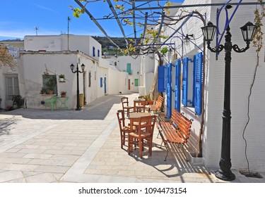 Lefkes, traditional greek village on Paros island, Cyclades