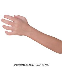 Left child hand for take