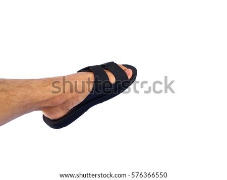 a75f938c7 Left Foot Wear Sandals Stock Photo (Edit Now) 576366550 - Shutterstock