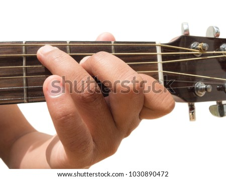 Left Hand Gesture Chord C Guitar Stock Photo Edit Now 1030890472
