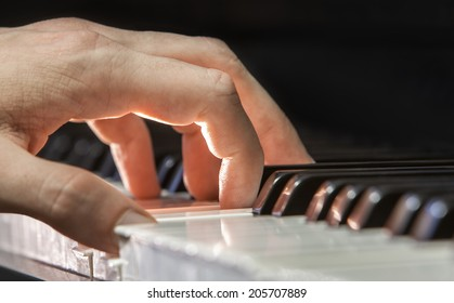 Left hand of a Jazz piano player. Taken in Montreal.