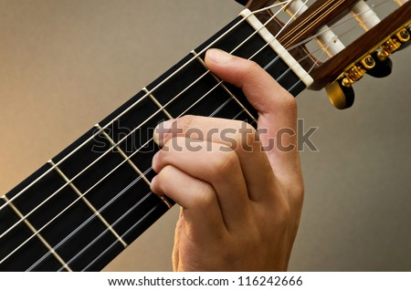Left Hand Position Basic Chord Classic Stock Photo (Edit Now ...