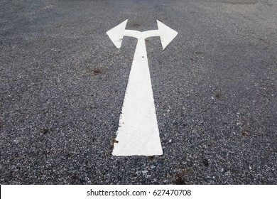 Left and right sign on the street