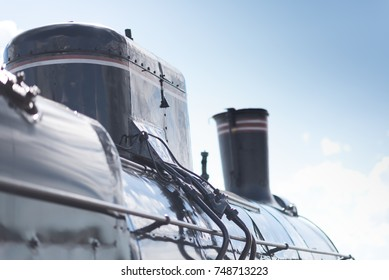 Left side of the locomotive view. Close-up.
