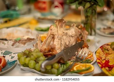 Leftover Turkey After Thanksgiving Dinner