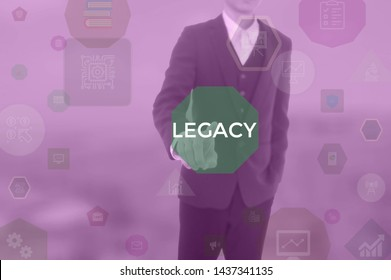 LEGACY - business concept presented by businessman