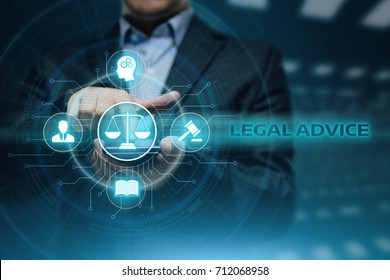 Legal Advice Attorney at law business internet technology concept.