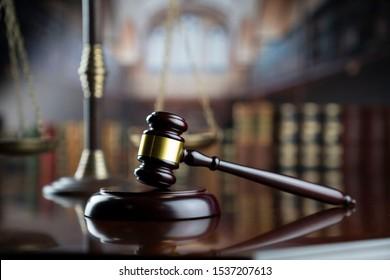 Legal advice concept background. Law symbols composition.