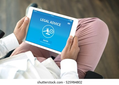 LEGAL ADVICE CONCEPT ON SCREEN