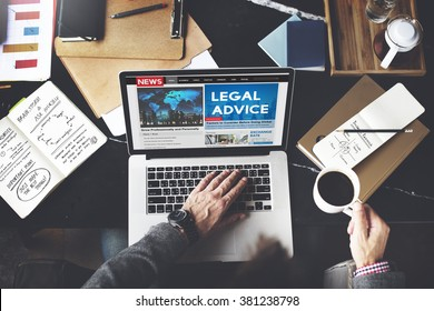 Legal Advice Headline News Feed Concept