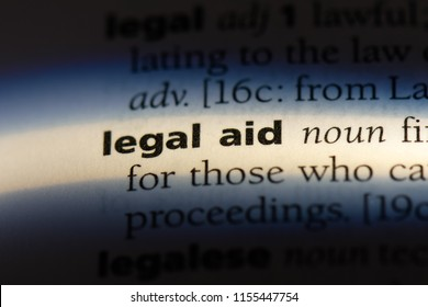 legal aid word in a dictionary. legal aid concept.