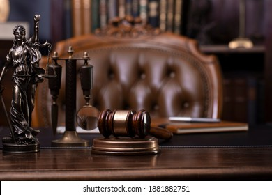 Legal concept. Law and justice symbols. Book background.