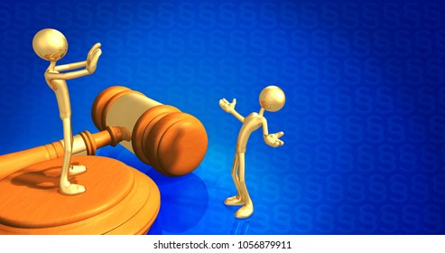Legal Concept Lawyer Rejecting A Client The Original 3D Characters Illustration