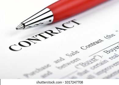 Legal contract signing - buy sell real estate contract