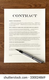 Legal Contract/Agreement with Fountain Pen