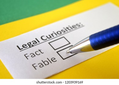 Legal curiosities: fact or fable?