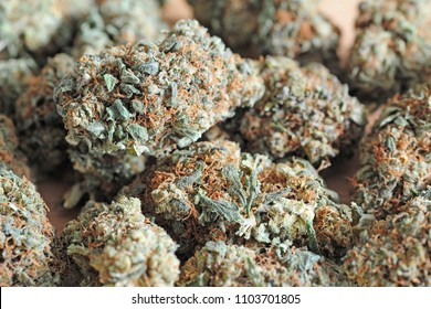 Legal grass ( weed ) with low thc and high cbd to be smoke - light drug and cannabis - marijuana flowers - drugs and illegal ( Curative )