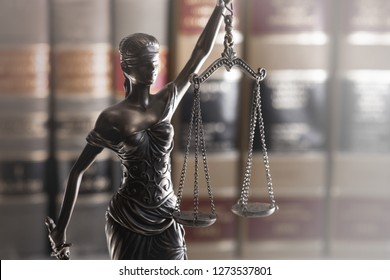 Legal law concept image.  Scales of justice and books
