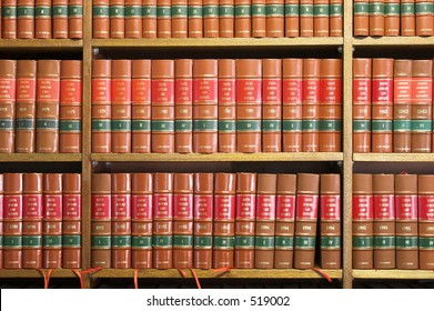 Legal Library in wooden bookcase