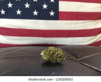 Legal Marijuana Recreational Weed Pot Legalized Bud American Flag background