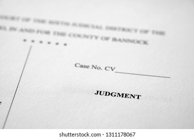 Legal Pleadings Court Papers Law Judgment