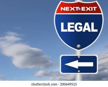 Legal road sign