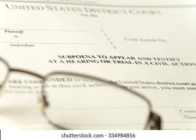legal subpoena