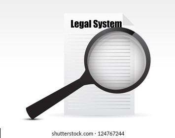 Legal system review concept illustration design graphic