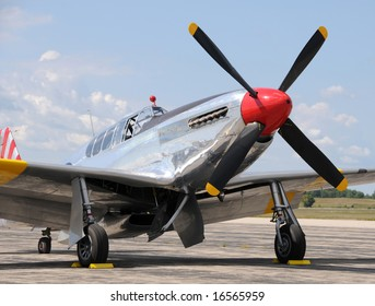 Legendary American fighter plane from World War II P-51 Mustang
