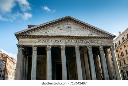 The legendary historical building has survived to this day. Pantheon Italy Rome